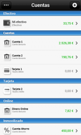 Imagen del Control de cuentas bancarias en la app de Contamoney
